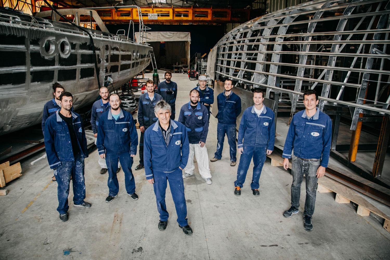 Chantier naval construction de voiliers en aluminium sur-mesure